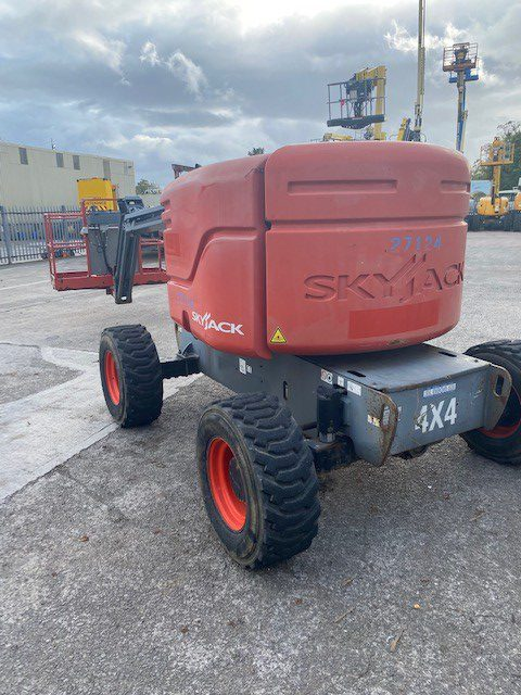 red 2014 Skyjack 51AJ rear
