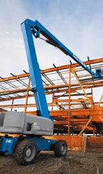 Blue lift on a building site